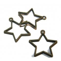Pendentif pour résine étoile métal bronze