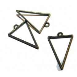 Pendentif pour résine losange métal bronze