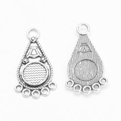 2 chandeliers métal argenté pour cabochon 10 mm