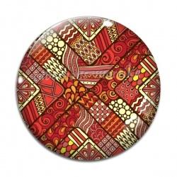 Cabochon Verre - Amérindiens Afrique