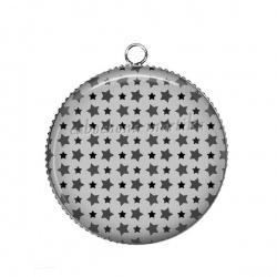 Pendentif Cabochon Argent - étoile