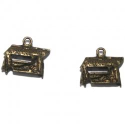1 Breloque balancelle métal bronze