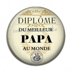 Cabochon Résine - diplôme du meilleur papa au monde