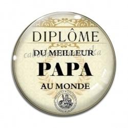 Cabochon Verre - diplôme du meilleur papa au monde
