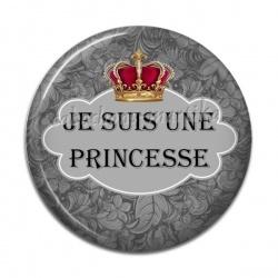 Cabochon Résine - je suis une princesse