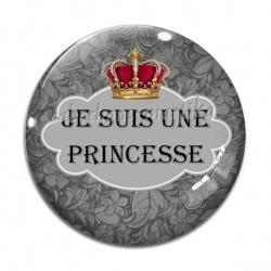 Cabochon Verre - je suis une princesse
