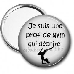 Miroir de poche - je suis une prof de gym qui déchire