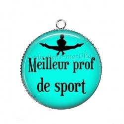 Pendentif Cabochon Argent - meilleur prof de sport