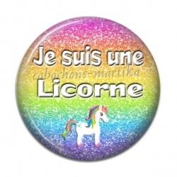 Cabochon Résine - je suis une licorne