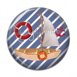 Cabochon Résine - bateau