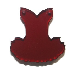 connecteur pendentif robe plexiglass