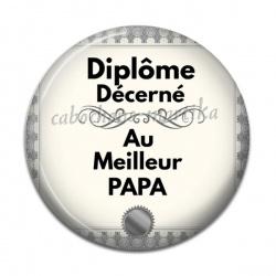 Cabochon Résine - diplôme décerné au meilleur papa