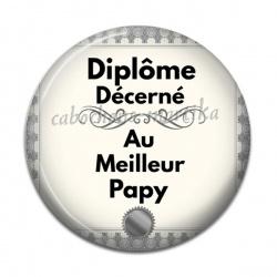 Cabochon Résine - diplôme décerné au meilleur  papy