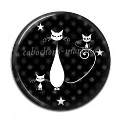 Cabochon Résine - chat noir