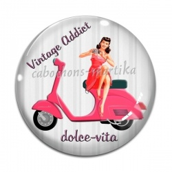 Cabochon Verre - pin-up