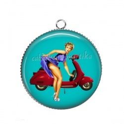 Pendentif Cabochon Argent - pin up