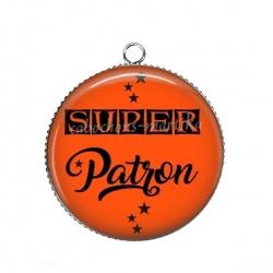 Pendentif Cabochon Argent - super patron