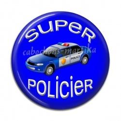 Cabochon Résine - super policier
