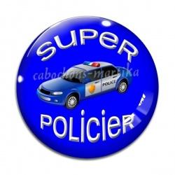 Cabochon Verre - super policier
