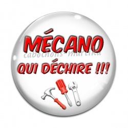 Cabochon Verre - mécano qui déchire