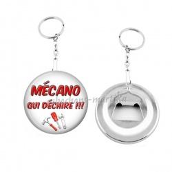 Porte clés décapsuleur - mécano qui déchire