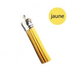 Pompon suédine 6 cm jaune et argent
