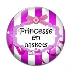 Cabochon Verre - princesse en baskets