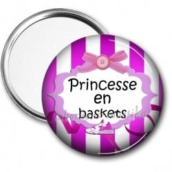 Miroir de poche - princesse en baskets