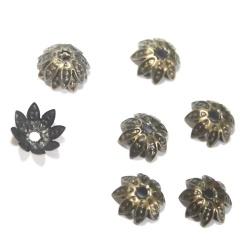 20 coupelles 10 mm métal bronze