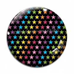 Cabochon Verre - étoile multicolore