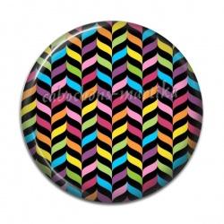 Cabochon Résine - rayure multicolore
