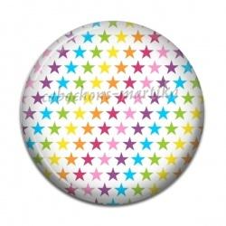 Cabochon Résine - étoile multicolore
