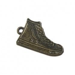breloque chaussure de sport métal bronze