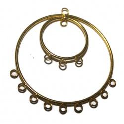 1 Chandelier métal doré