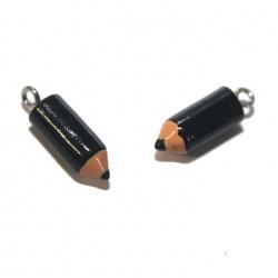 1 breloque crayon noir