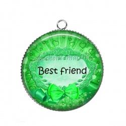 Pendentif Cabochon Argent - best friend