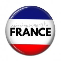 Cabochon Résine - drapeau france