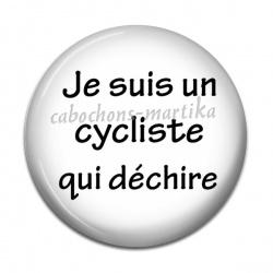 Cabochon Résine - je suis un cycliste qui dechire
