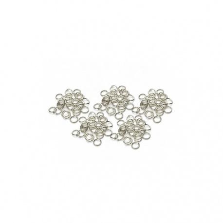 20 anneaux 10 x 1 mm métal argenté