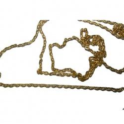 1 Métre chaine métal dorée