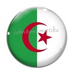 Cabochon Verre - drapeau algerie