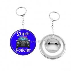 Porte clés décapsuleur - super policier