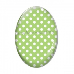 Cabochon Verre Ovale - pois