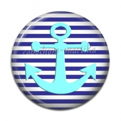 Cabochon Résine - ancre marine