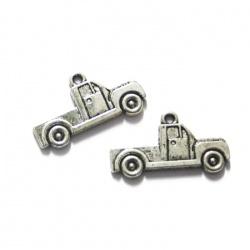 1 breloque camionnette plateau métal argenté