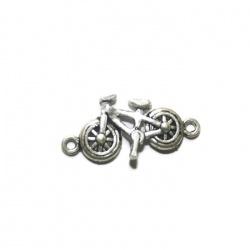 1 connecteur vélo métal argenté
