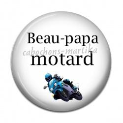 Cabochon Résine - beau-papa motard