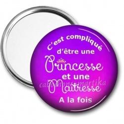 Miroir de poche - princesse