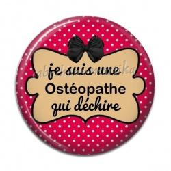 Cabochon Résine - je suis une ostéopathe qui déchire