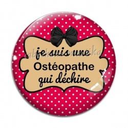 Cabochon Verre - je suis une ostéopathe qui déchire